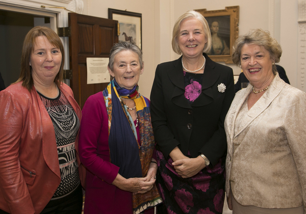 Jillian with Mary Banotti, Catherine Day and Nora Owen at European Movement Ireland
