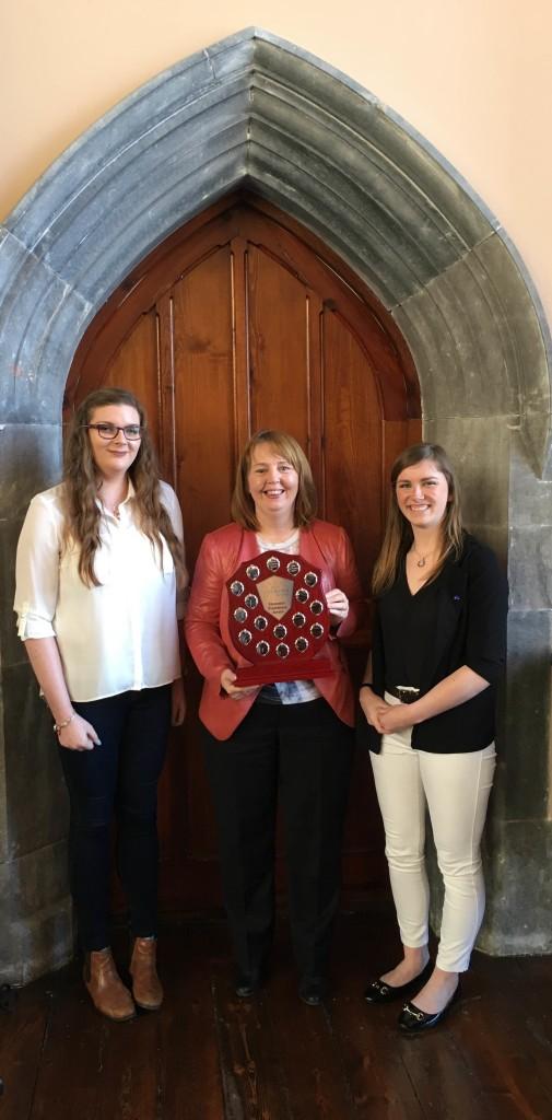Jillian receiving the Honorary Presidency of the University College Cork Europa Society