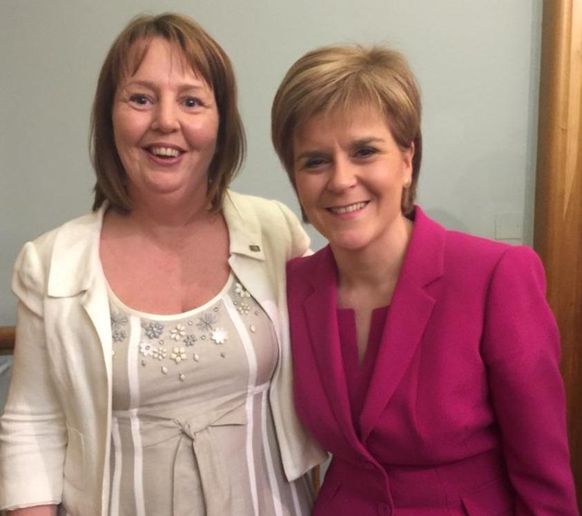 Jillian with MEP Mairead McGuiness