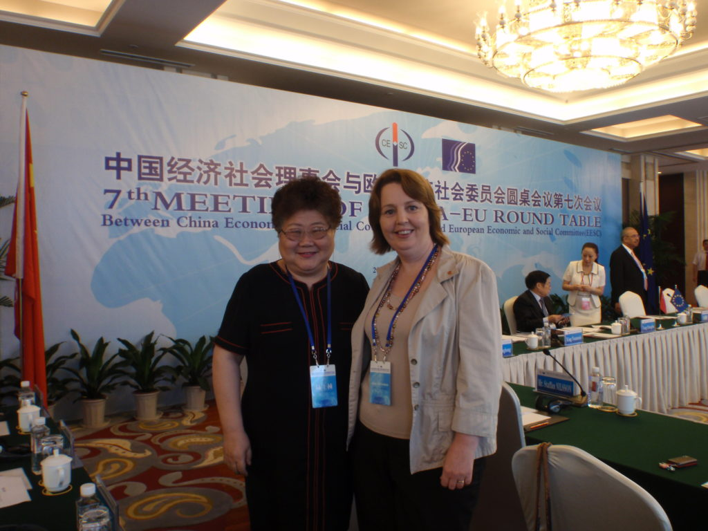 Jillian as Member of the EU delegation to the 7th China-EU Round Table