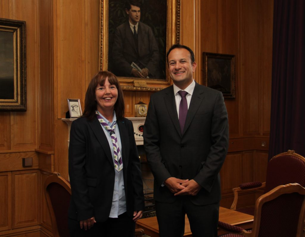 Jillian with Irish An Taoiseach  (prime minister) Leo Varadkar