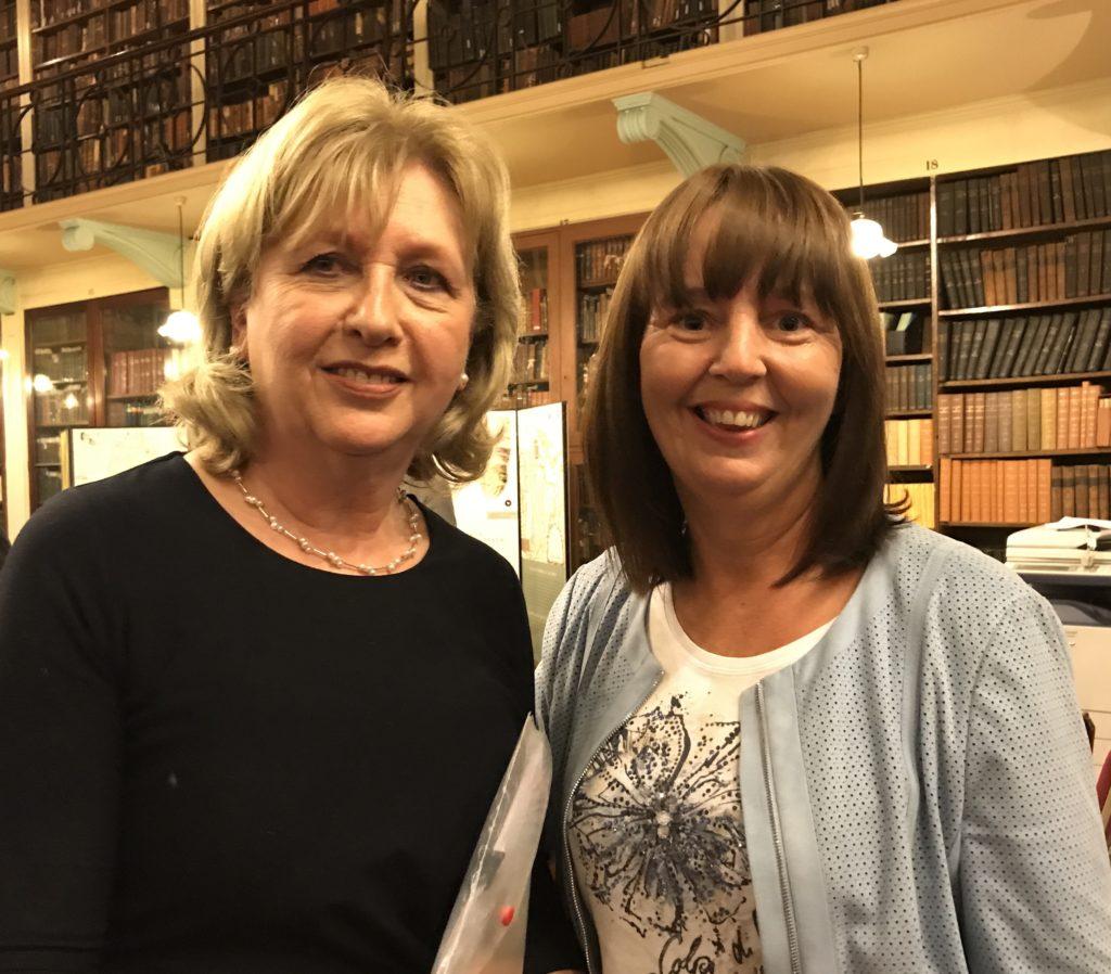 Jillian with former Irish President McAleese