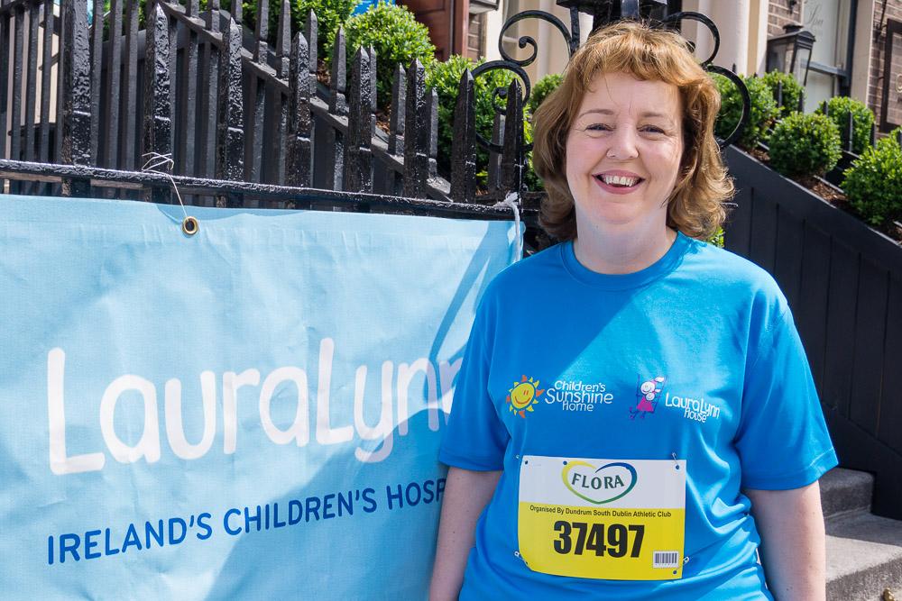 Jillian participating in Flora Mini Marathon in support of Laura Lynn Children's Hospice