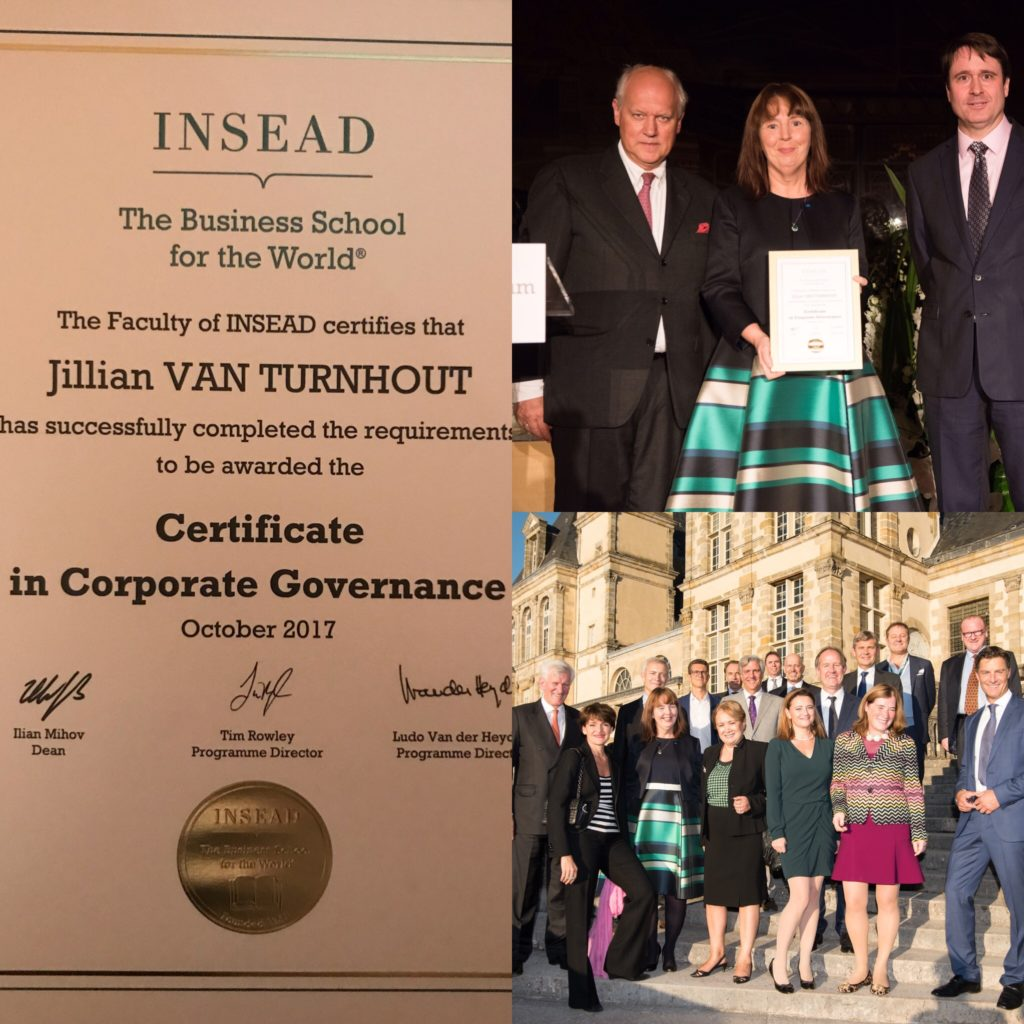 Jillian van Turnhout receives INSEAD Certificate in Corporate Governance