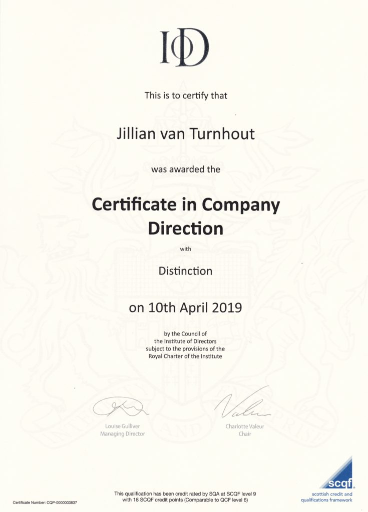 Certificate in Company Direction IoD